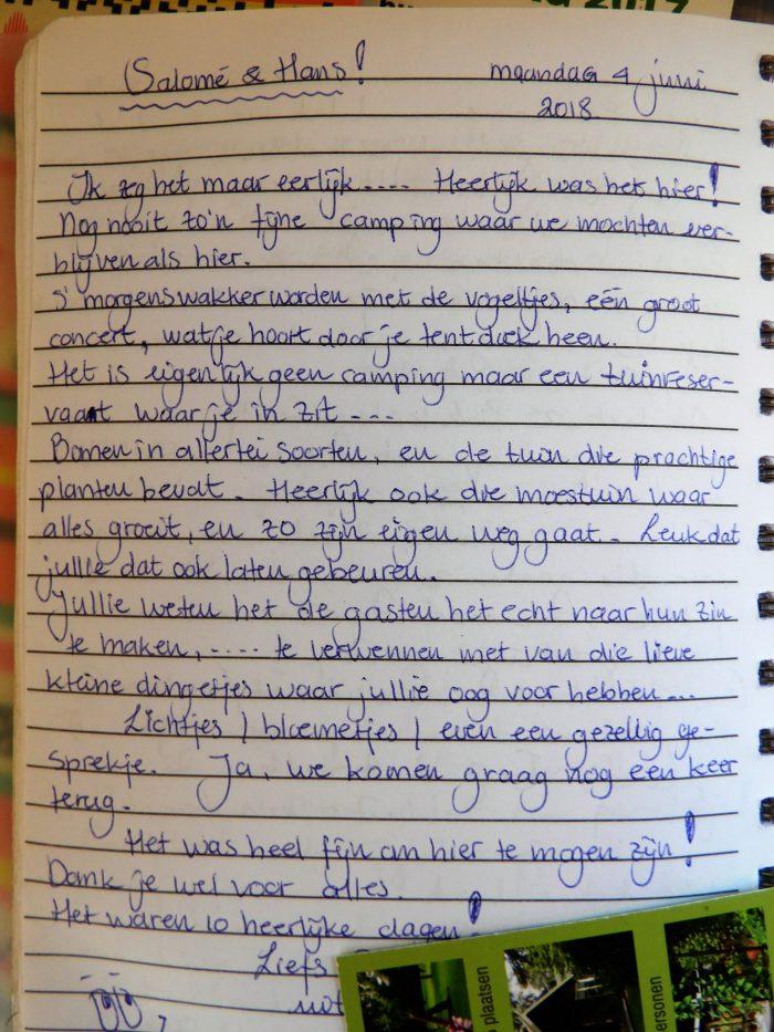 recensie gastenboek Wildemansheerd
